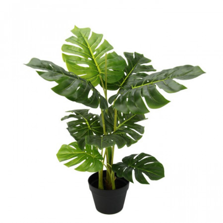 Planta artificiala Philodendron, plastic, verde, 70 x 34 x 34 cm