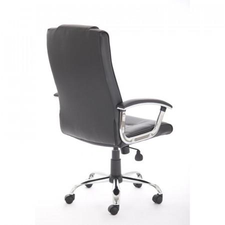 Scaun de birou Oshaughnessy din piele, negru, 52cm L x 47cm D
