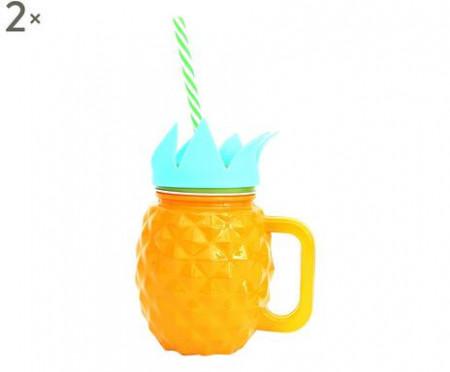 Set 2 pahare Ananas