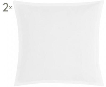 Set de 2 fete de perne Breeze, 40x40 cm, alb