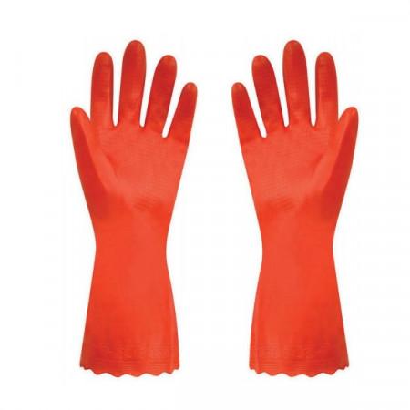 Set de 2 perechi manusi Polyco Pura PVC marimea 8/M, portocaliu