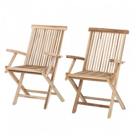 Set de 2 scaune Milford cu brate, lemn masiv