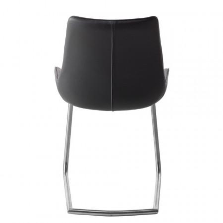Set de 2 scaune Saval, piele sintetica, gri