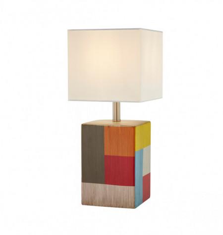 Veioza Sea, metal/tesatura, multicolora, 18 x 42 x 17 cm