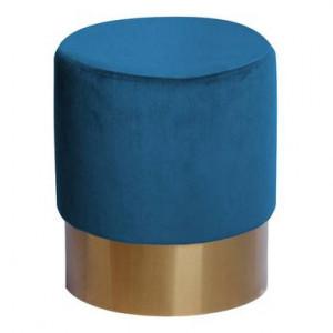 Puf Petito, catifea albastra