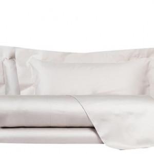 Cearsaf drept de pat si 2 fete de perna Essential gri, matrimoniala