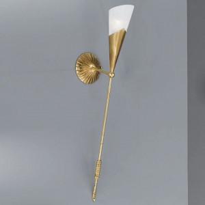Aplica Fackel, metal/sticla, aurie, 12 x 83 x 30 cm