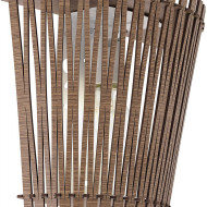 Aplica Sendero, metal/lemn, maro, 24 x 22 x 12 cm