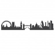 Autocolant de perete London Skyline, 15 x 60 cm