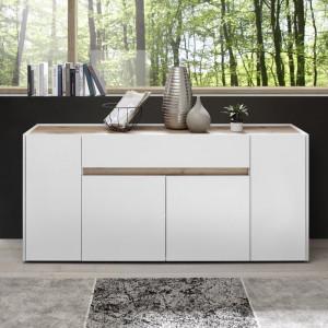 Bufet Ayan, alb, 85 x 170 x 40 cm