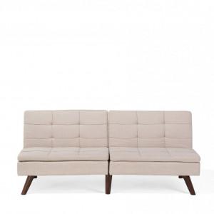 Canapea extensibila Ronne, bej, 76 x 180 x 95 cm