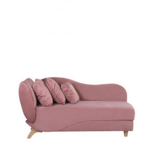 Canapea MERI, catifea, roz, 156 x 72 x 77 cm