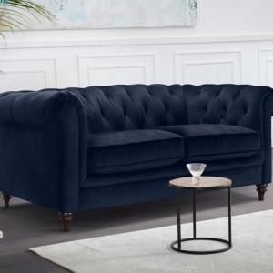 Canapea Premium Collection by Home Affaire, catifea albastra
