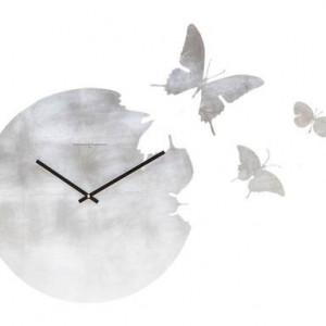 Ceas de perete Butterfly cu folie de argint