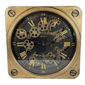 Ceas de perete Mccollum, alama/negru, 49,5 x 49,5 x 7,5 cm