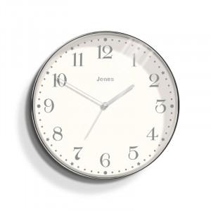 Ceas Magazine argintiu, 35 cm