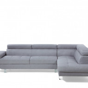 Coltar NORREA, textil, gri, 72 x 261 x 193 cm