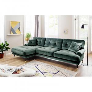 Coltar Tomlin, lemn masiv, verde, 285 x 155 x 88cm