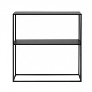 Comodă Newton, metal, negru, 80 x 80 cm