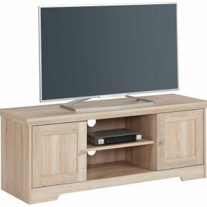 Comoda TV Nanna MDF/lemn/metal, crem, 118 x 39 x 46 cm