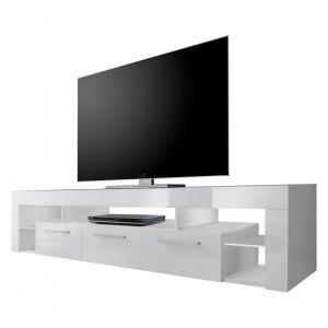 Comoda TV Paxton II - alb lucios