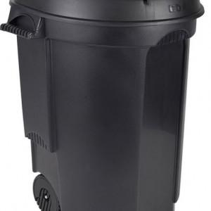 Cos de gunoi 110L polipropilena, negru