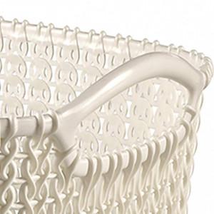 Cos impletit KNIT Curver, alb, plastic/polipropilena, 19 l, 40 x 23 x 30 cm