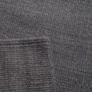 Covor din lana Kelim Uni gri inchis 80 x 200