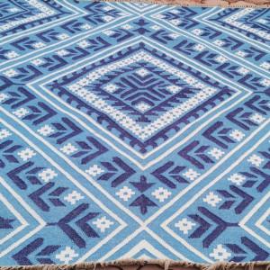 Covor Kayla Kelim, albastru, 200 x 200 cm