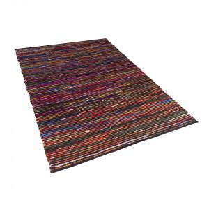 Covor lucrat manual Bartin, multicolor închis, 140 x 200 cm