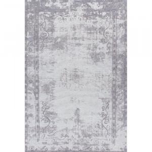 Covor, poliester/bumbac, gri, 95 x 160 cm