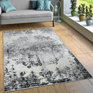 Covor Schumacher, polipropilena, gri/negru, 240 x 340 cm