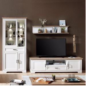 Cuier Jasmund MDF, alb, 142 x 29 x 20 cm