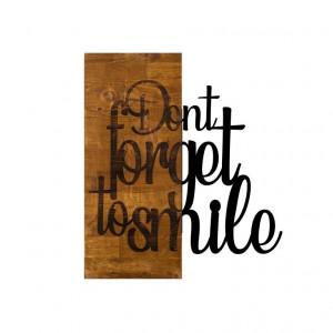 Decor de perete Don't Forget to Smile, 47 x 58cm