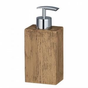 Dispenser de sapun Marla polireresina, maro, 7 x 17 x 5 cm
