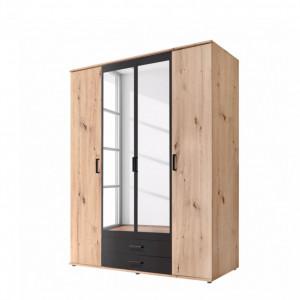 Dressing Middleton, PAL/metal, maro/negru, 159 cm