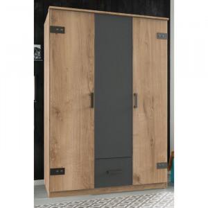 Dressing Stirum, maro/grafit, 198 x 135 x 58 cm