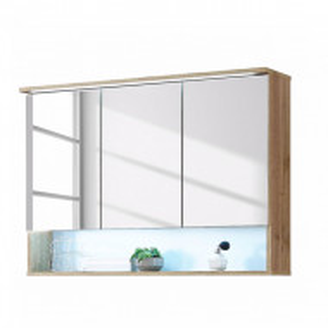 Dulapior cu oglinda Lombos PAL, maro, 99 x 70 x 23 cm