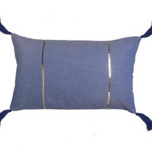 Fata de perna decorativa Caparica albastra, 30x50 cm