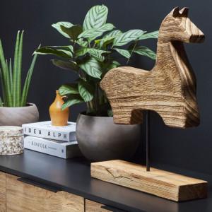 Figurina decorativa COLIMA, lemn, maro, 39 x 10 x 48 cm