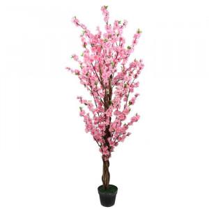 Floare artificiala roz, 150 cm