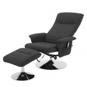 Fotoliu recliner cu masaj Devato tesatura/metal, gri, 78 cm
