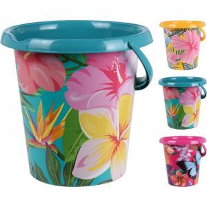 "Găleată Karll 12l plastic ""Floral"", 3 modele"