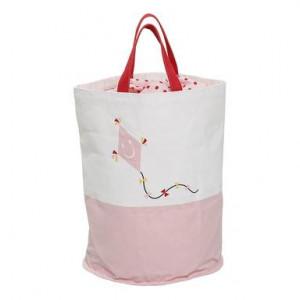 Geanta cu zmeu, alb/roz
