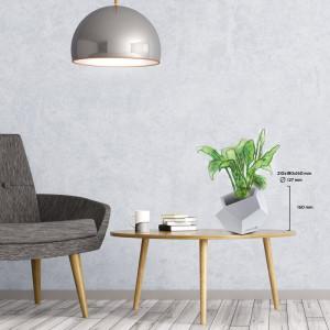 Ghiveci Concrete alb, 16 x 18 cm