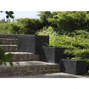 Ghiveci Myra negru, 80 x 37 x 38 cm