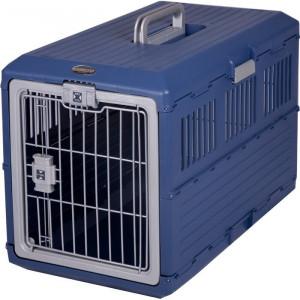 Lada pentru animale de companie, plastic, albastra, 47,8 x 40,3 x 68,6 cm