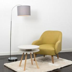 Lampadar Kim, metal/ tesatura, inaltime 152 cm