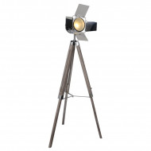 Lampadar Tripod din lemn, 140 x 71 cm