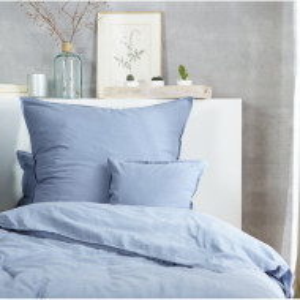 Lenjerie de pat Renforcé, bumbac, albastru, 155 x 220 cm
